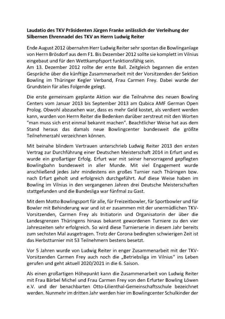 Laudatio des TKV Präsidenten Jürgen Franke anlässlich der Ehrung des TKV an Herrn Ludwig Reiter_Seite_1